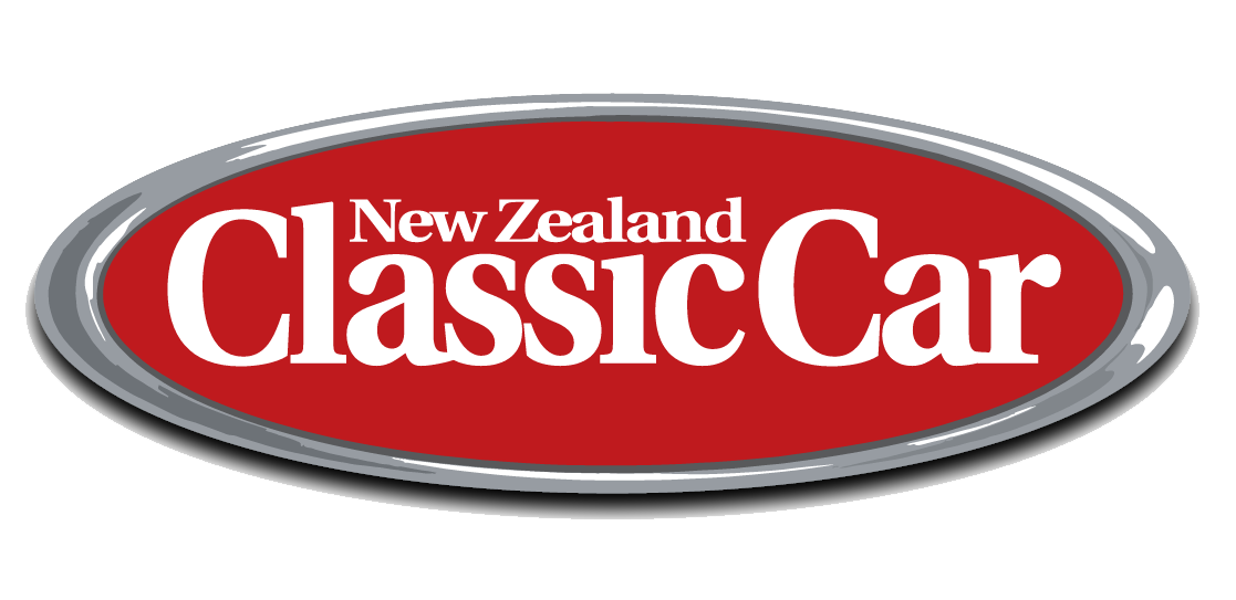 New Zealand Classic Car logo with red background